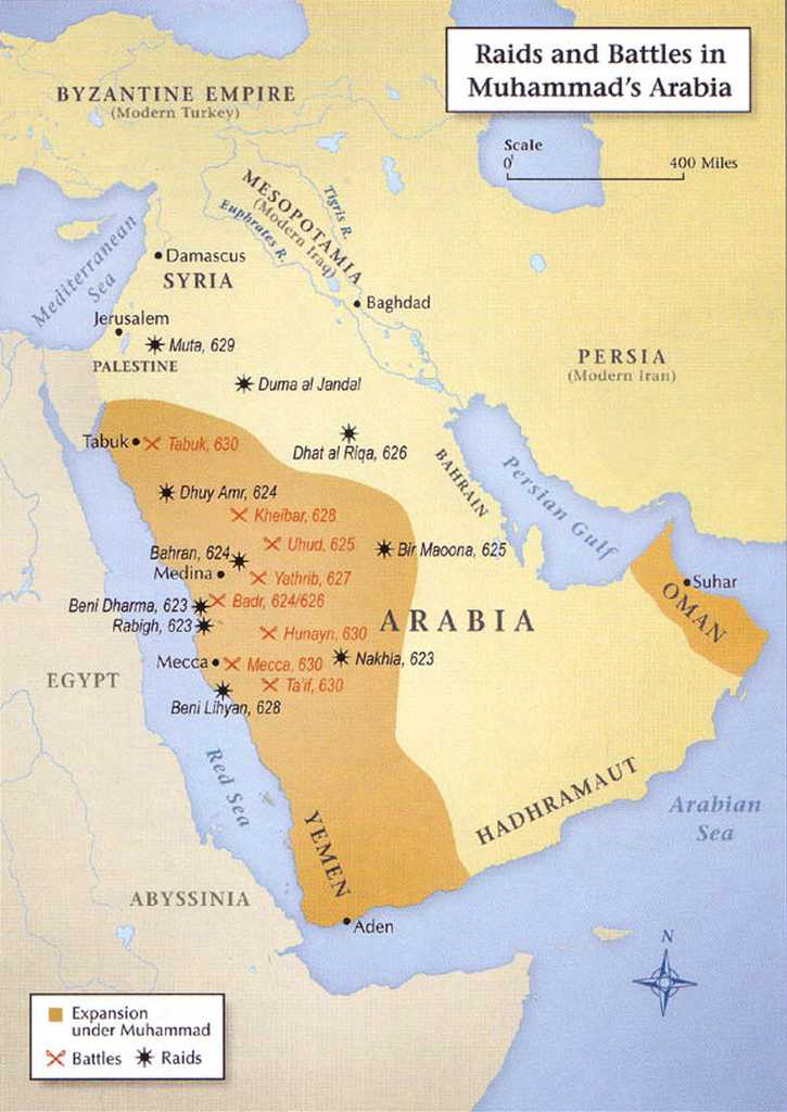 Raid and Battles in Muhhamad's Arabia