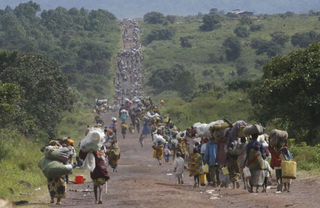 Masses of Refugee